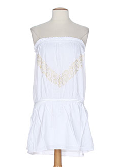 mine de rien robes femme de couleur blanc