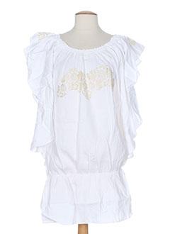 Robe mi-longue blanc MINE DE RIEN pour femme