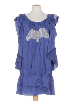 Robe mi-longue bleu MINE DE RIEN pour femme