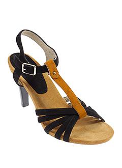 bruno et premi sandales et nu et pieds femme de couleur noir