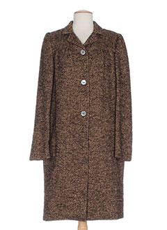 momoni manteaux femme de couleur marron