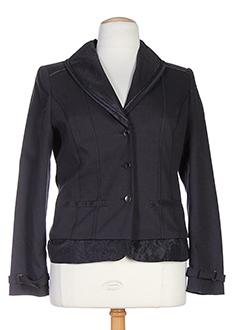 bleu de sym vestes femme de couleur gris