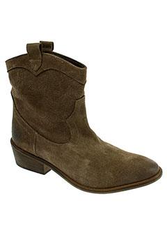 midreia boots femme de couleur marron