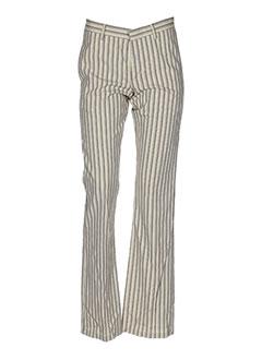 bray steve alan pantalons femme de couleur beige