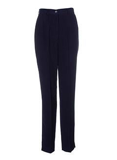 francois favel pantalons femme de couleur bleu