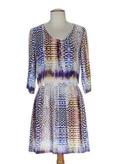 biscote robes femme de couleur bleu