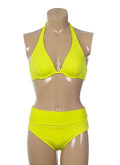 d nu d maillots de bain femme de couleur jaune