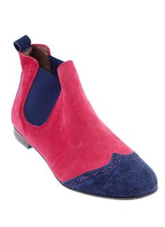 mally boots femme de couleur rouge