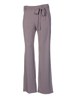 taviani pantalons femme de couleur gris