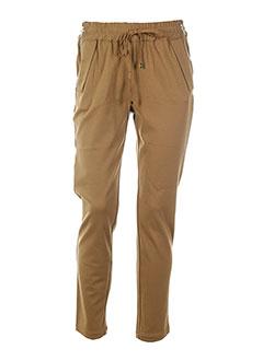 good look pantalons femme de couleur marron