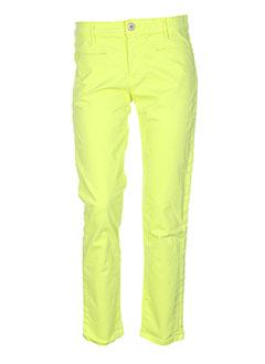 denim studio pantalons femme de couleur vert