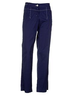 apanage pantalons femme de couleur bleu
