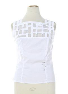 aqua t-shirts / tops femme de couleur blanc