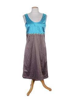 nathalie chaize robes femme de couleur bleu
