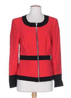 nathalie chaize vestes femme de couleur rouge