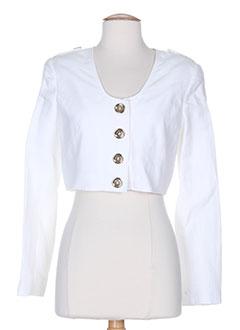 nathalie chaize vestes femme de couleur blanc