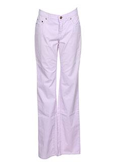 Pantalon casual violet TRUSSARDI JEANS pour femme