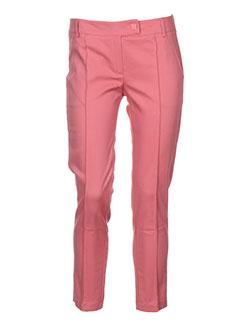 cristina et gavioli pantalons et citadins femme de couleur rose