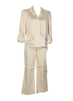lysa et kara pantalon et veste femme de couleur beige