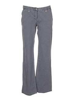 para nada pantalons femme de couleur gris