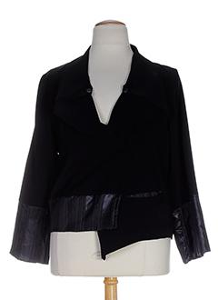 lauren vidal vestes femme de couleur noir