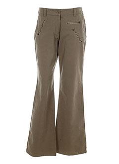 ernest pantalons femme de couleur marron