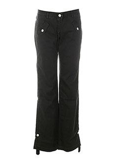 chipie pantalons fille de couleur noir