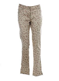 laura et jo pantalons et decontractes femme de couleur beige