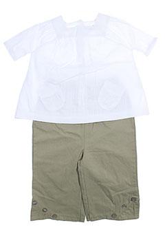 wiplala t et shirt et pantalon fille de couleur blanc