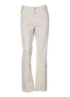 lauren et vidal pantalons et decontractes femme de couleur beige