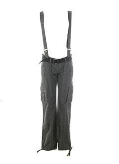 black et de et la et rosa pantalons et decontractes femme de couleur gris