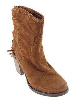 axell bottines femme de couleur marron
