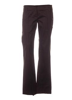 le group woman pantalons femme de couleur marron
