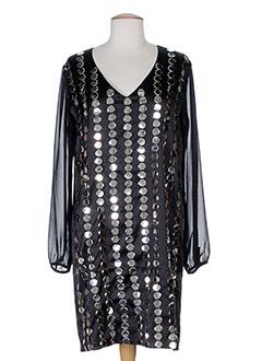 Robe mi-longue noir CHARABIA pour femme