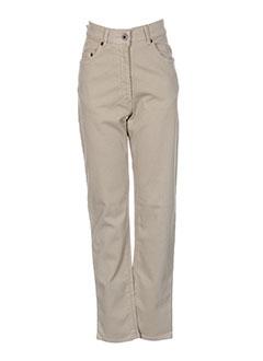 blue willi's pantalons femme de couleur beige