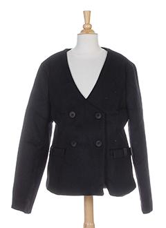 bonsui manteaux femme de couleur noir