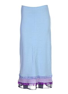 Jupe longue bleu AZULEROS pour femme