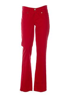 mer du nord pantalons femme de couleur rouge