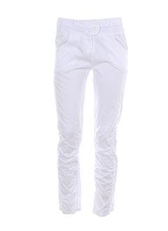 Pantalon casual blanc E-BRYDE pour femme