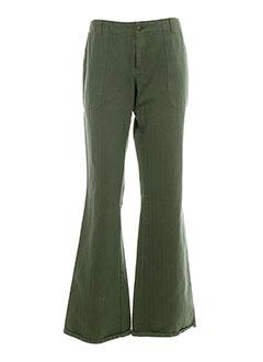 chipie pantalons femme de couleur vert