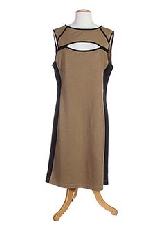 blanc nature robes femme de couleur marron