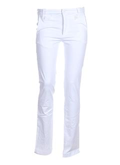 Pantalon casual blanc DOGLEG pour femme