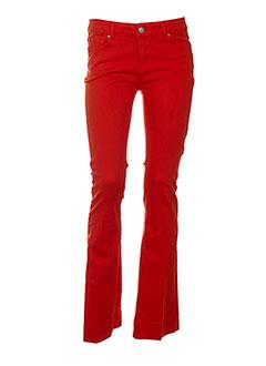 sinequanone pantalons femme de couleur rouge