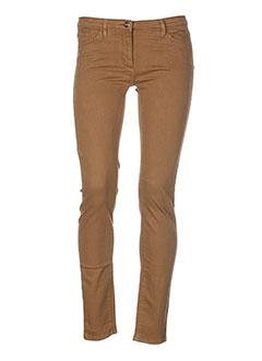 who's who pantalons femme de couleur marron