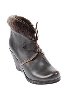 rosemetal bottines femme de couleur gris