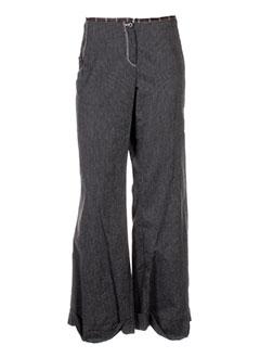 coco menthe pantalons femme de couleur marron
