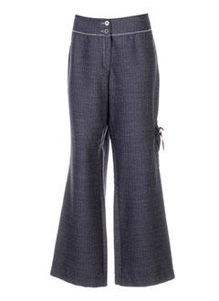 coco menthe pantalons femme de couleur gris