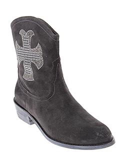 adige boots femme de couleur gris