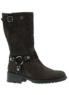 adige bottes femme de couleur marron