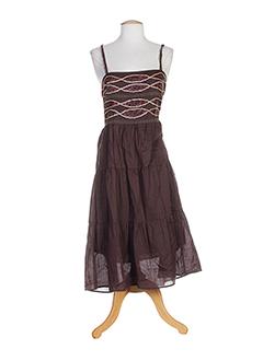 les petites collections robes femme de couleur marron